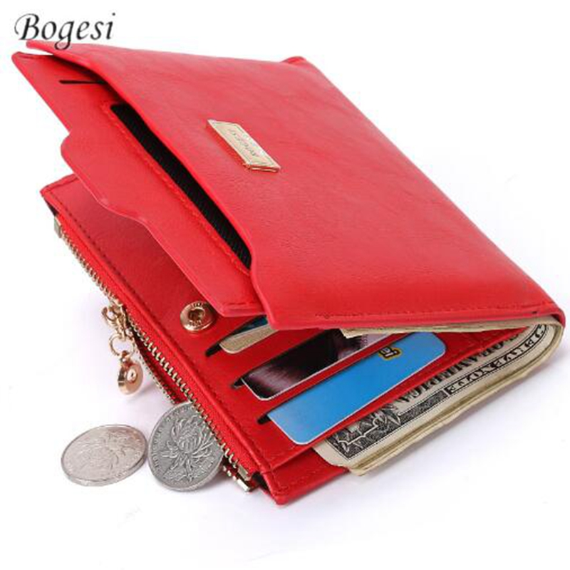 BOGESI New Brand Fashion Zipper PU Leather Coin Card Holder Photo Holders Sequined Purse Wallet Female Purse Wallets Multi Purse bogesi men s wallets famous brand pu leather wallets with wallet card holder thin slim pocket coin purse price in us dollars