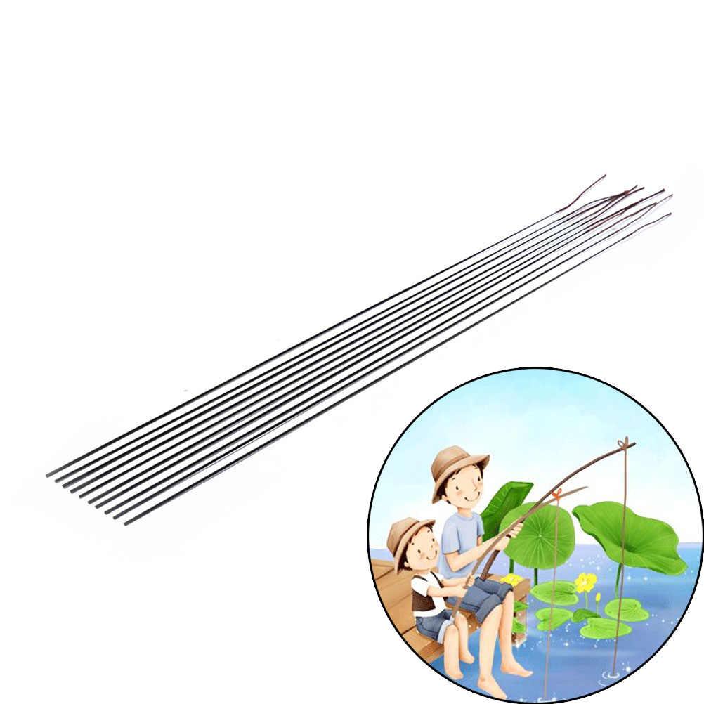 Zwarte Hengel Tips Spare Tip Taiwan Hengel Tip Solide En Holle Carbon Staaf Accessoires 45 Cm