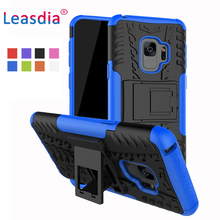 Здесь можно купить   Leasdia For Samsung Galaxy S9 Case Plastic Silicone 2 in 1 Shockproof Cover Protective Case For Samsung Galaxy S9 Mobile Phone Accessories & Parts