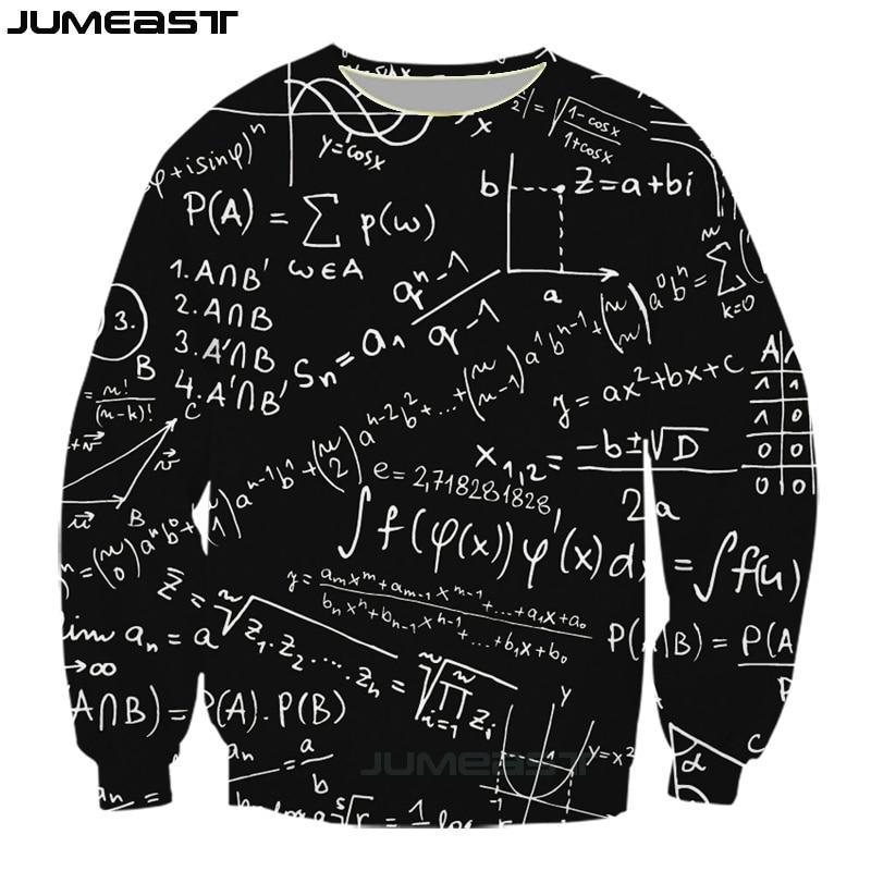 Jumeast New Funny Math Physics Formula 3d Printed Fashion Geometric Pattern Women Men Long Sleeved Outerwear Sweatshirts Tops in Hoodies amp Sweatshirts from Men 39 s Clothing