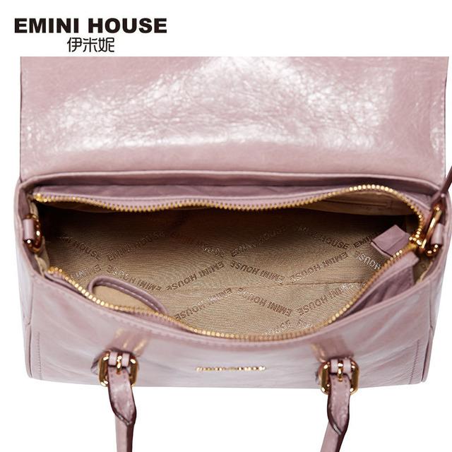 EMINI HOUSE Vintage Oil Wax Genuine Leather Women Crossbody Bag Luxury Handbags Women Messenger Bags Fashion Shoulder Bags