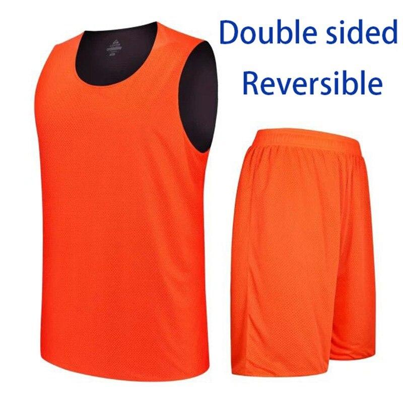 הפיך דו צדדי ג 'רזי גופיות כדורסל ספורט מקצועי מהיר יבש סט חליפת חולצות ללא שרוולים חולצות ומכנסיים קצרים