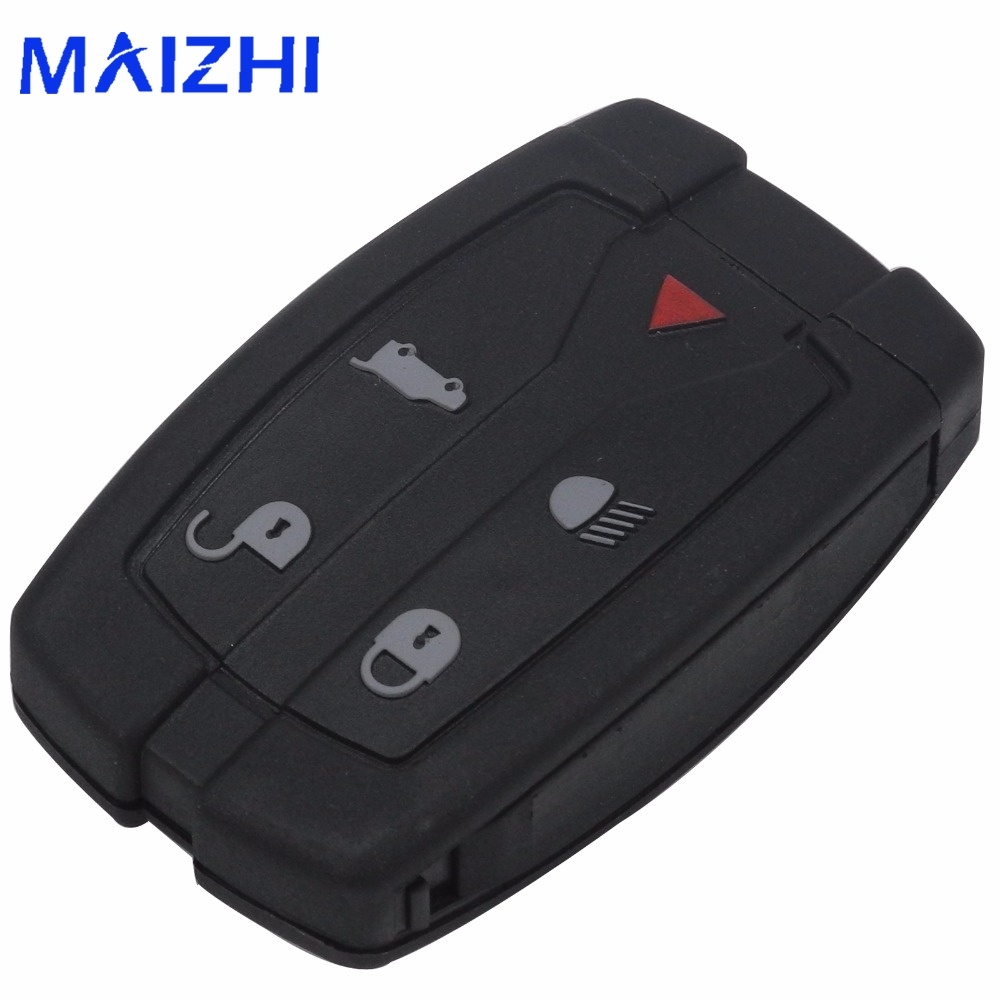 maizhi 5 Buttons Replacement Remote Car Key Case Shell Fob for Land Rover Freelander 2 3 Car Accessroes Styling