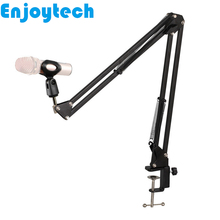 New Arrival Foldable Metal Stands Mounts Holder for Microphones Tabletop Convenient Tripod Bracket with Clamp Bloggers