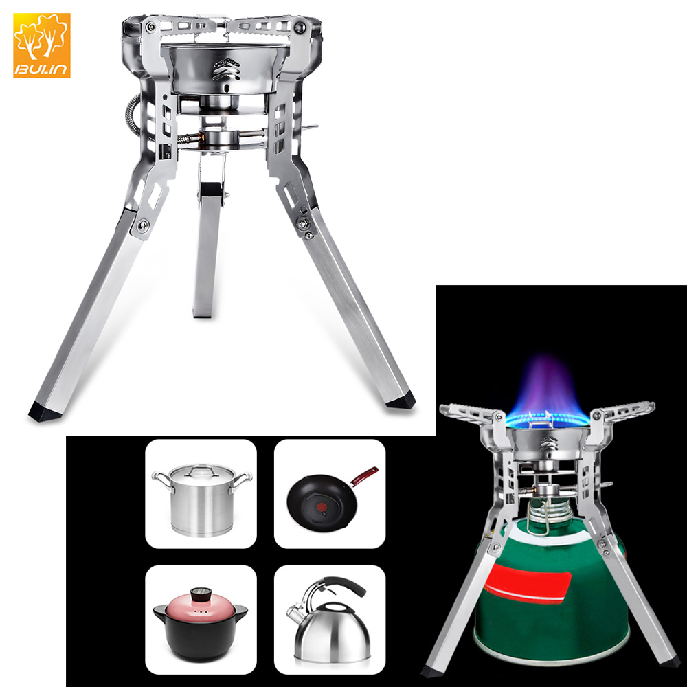 Bulin BL100 B16 3800W Split Gas Stove Portable Hiking Picnic Stove Foldable Split Gas Stove Burner Outdoor BBQ Camping Equipment bulin bl100 b15 mini portable outdoor gas stove foldable camping split gas burner camping cooking