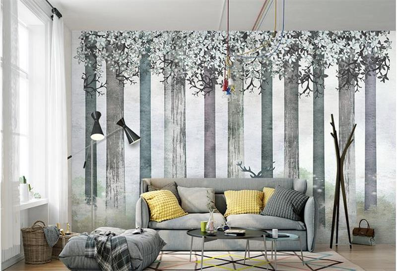 3d room wallpaper custom mural photo forest of Scandinavian Art painting picture 3d wall non-woven murals wallpaper for walls 3d 3d room custom wallpaper photo non woven mural picture 3d fantasy forest birds decoration painting wallpaper for walls 3 d