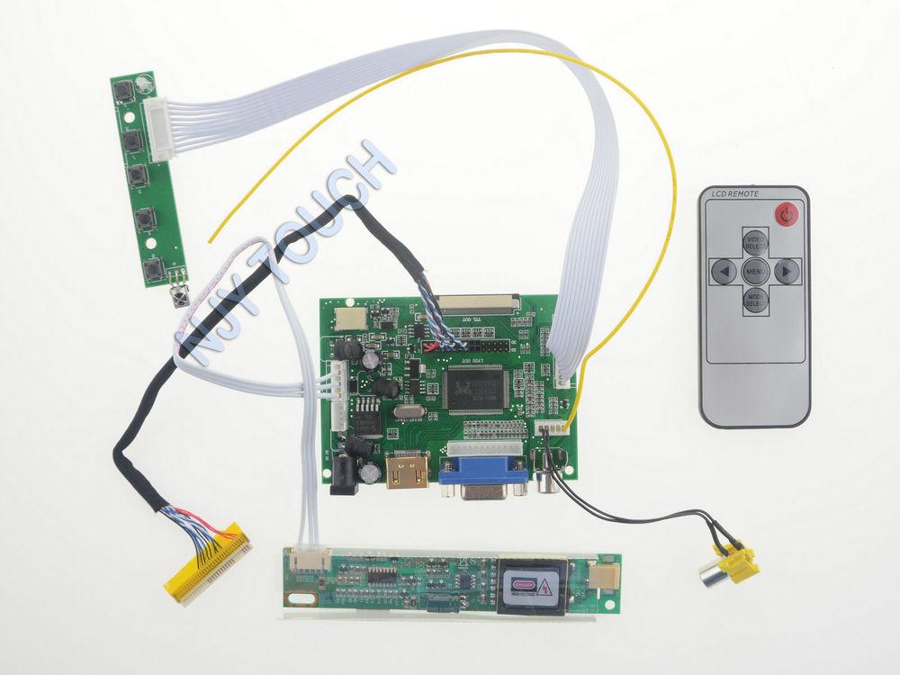 205583e3d29 HDMI VGA AV Remote LCD LVDS Controller Kit for 15.4