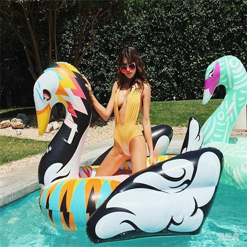 190*190*130CM Colorful Swan Inflatable floating row Swimming Rings Floating air mattress 230116 190 1033549