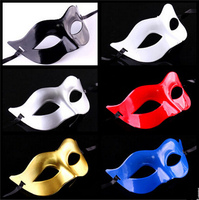 Hot Sale Women Men Venetian Silver Masquerade Mask For Party Costume Ball Black White Red Blue