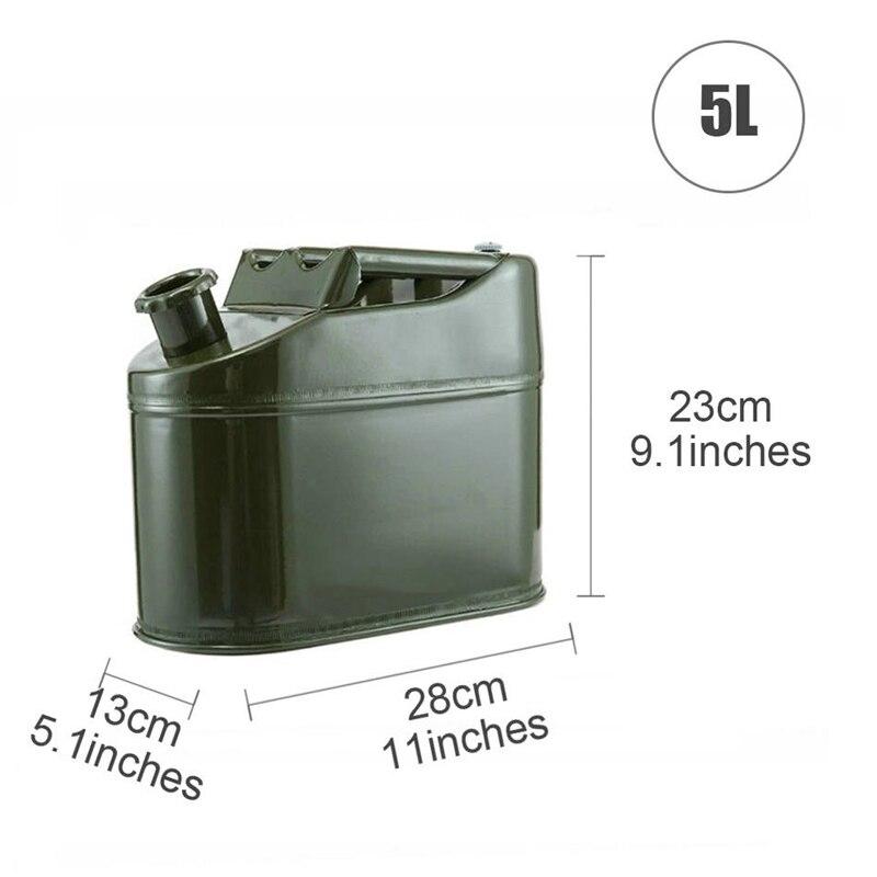 5L 10L voiture Portable essence baril SUV moto Tricycle bidon essence Diesel réservoir de carburant peut métal fer alliage huile tambour
