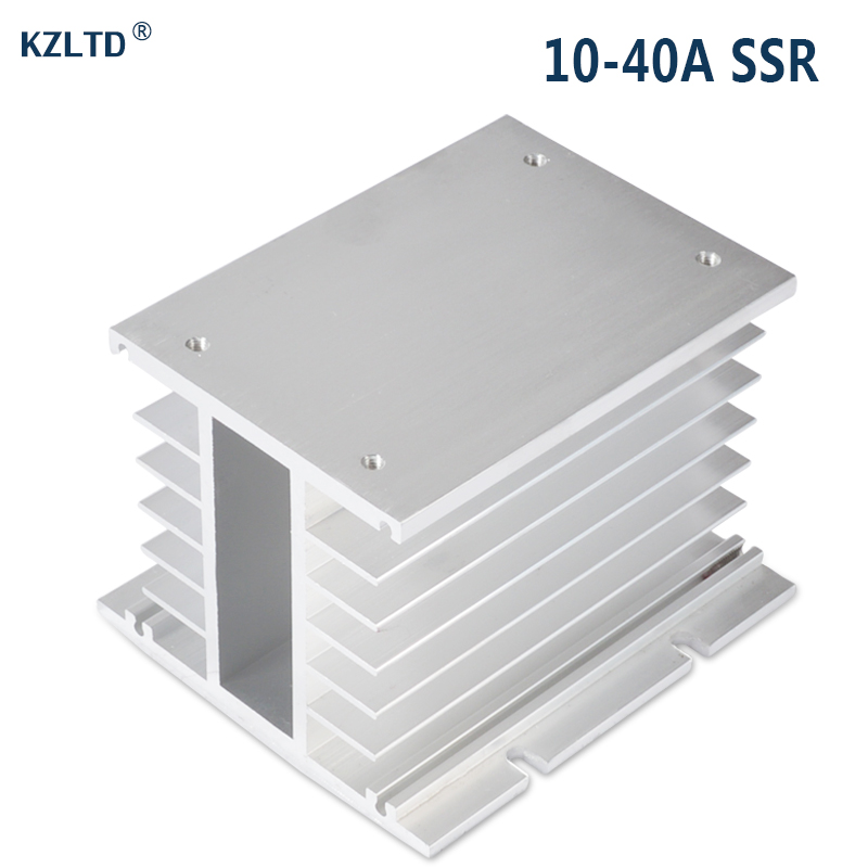 купить Solid State Relay SSR Heat Sink Heat Dissipator 80A 100A Three Phase SSR Heatsink Aluminum Alloy SR-H
