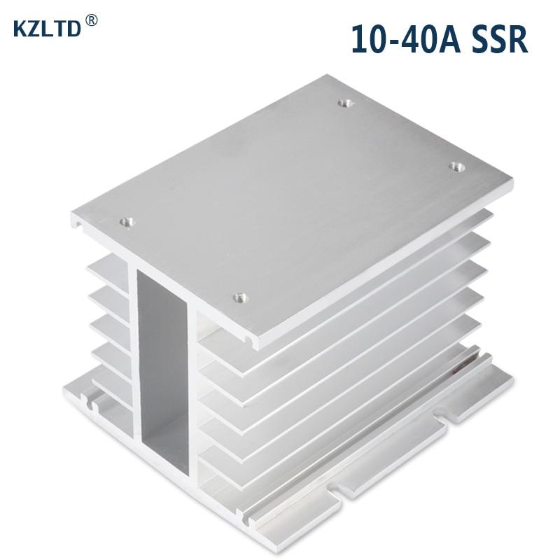 Solid State Relais SSR Dissipateur de Chaleur Dissipateur De Chaleur 80A 100A Triphasé SSR Radiateur En Aluminium Alliage SR-H