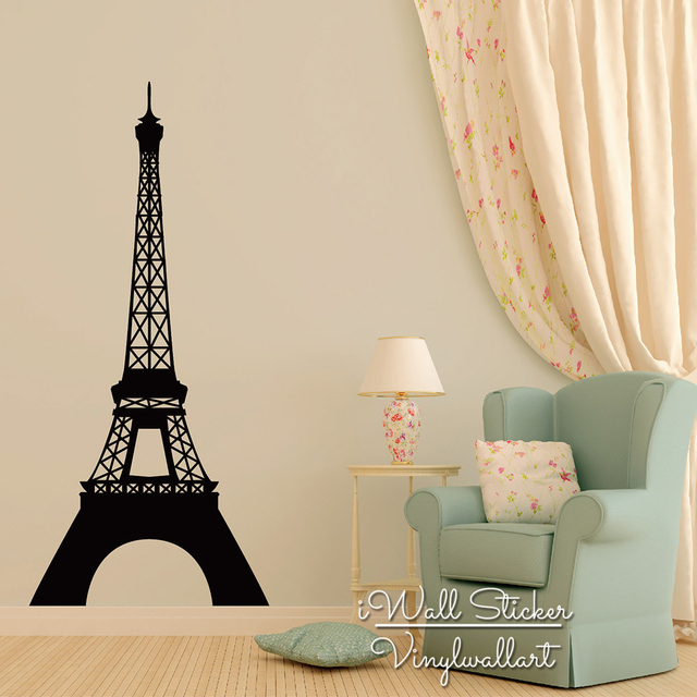 Removable Wall Art aliexpress : buy pairs tower wall sticker modern eiffel tower