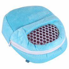 New Hot Rat Hamster Chinchilla Rabbit Ferret Hedgehog Outgoing Cotton Breathable Packet Bag Hanging Bed Pink / Blue / Green(China)