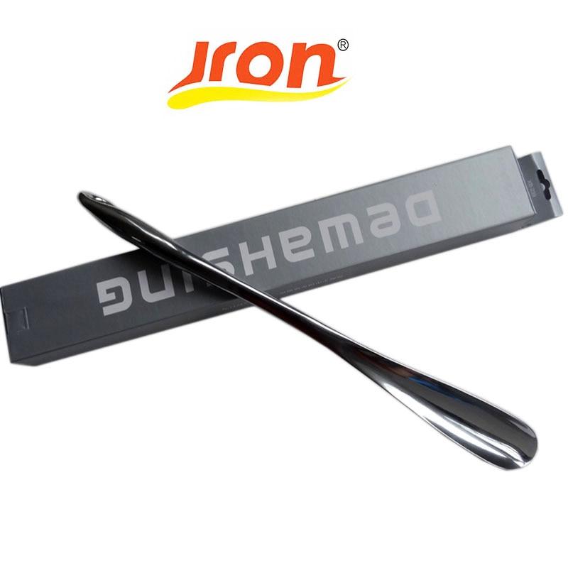 Jron Professional 52 sm dayanıqlı Paslanmayan polad Asan Dəstəkli Metal Ayaqqabı Buynuzu Qaşıq Shoehorn Ayaqqabı Qaldırıcısı