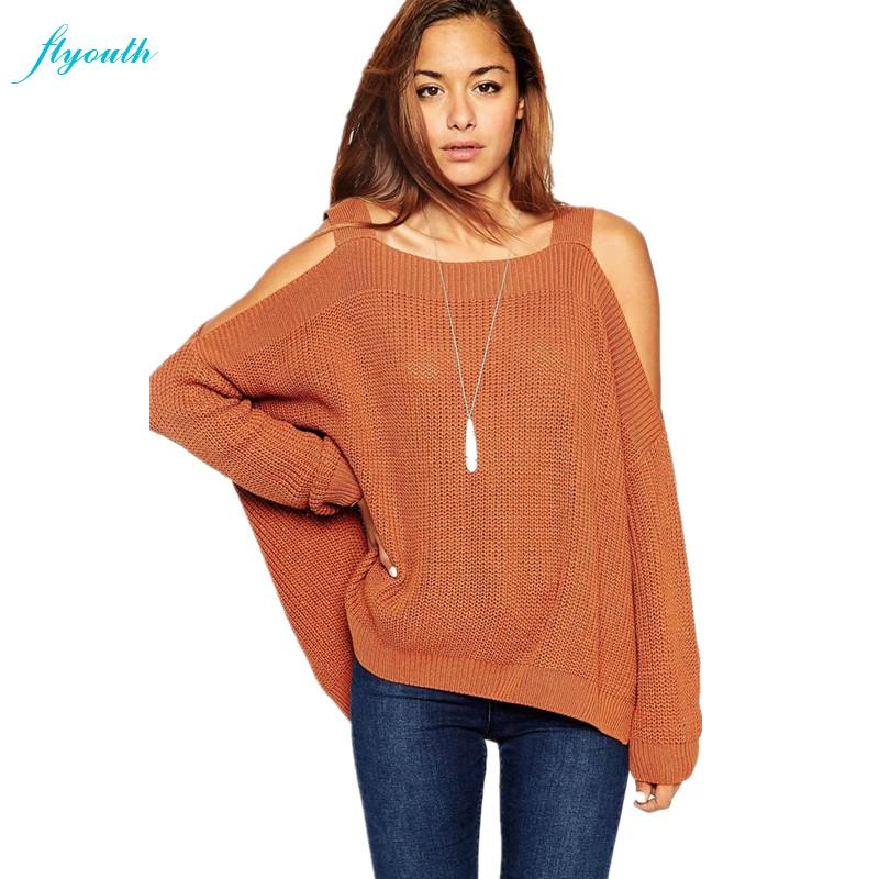 c49ef808228ae 2015 Autumn Winter New Fashion Women Sweater Plus Size Women Slim Off  Shoulder Pullover Sweater Casual Top Knitted Sweaters