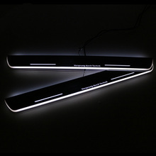 цена на SNCN LED Car Scuff Plate Trim Pedal Door Sill Pathway Moving Welcome Light For Audi A6 S6 C7 2013 2014 2015 Waterproof Acrylic