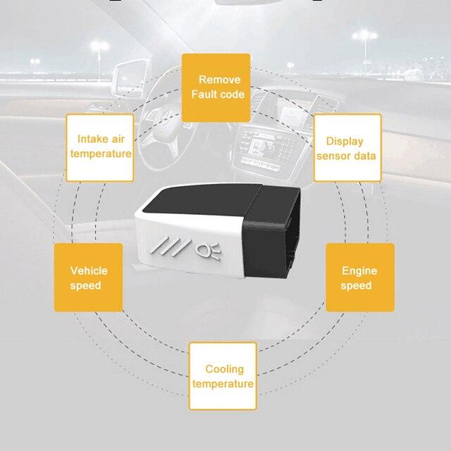 Scanner Bluetooth 4.0 Mini Auto Diagnostic Tool Car Fault Detector Code Reader Car Fault Detector Reader Diagnostic Scan Tool