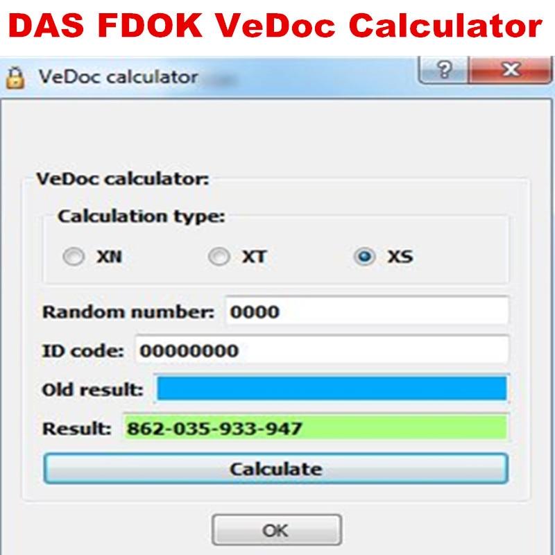 DAS/XENTRY Função Especial Calculadora e calculadora FDOK VeDoc ativação Online baixar e instalar para mb sd estrela c4 c5 c6