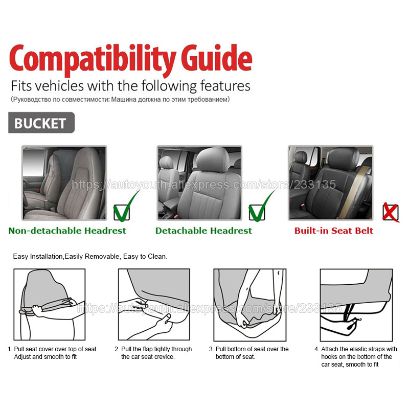 1 Pair Car Seat Cover PU Leather Universal Covers Styling For Auto Front Protector Interior Accessories In Automobiles
