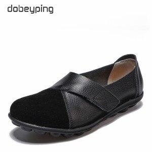Image 4 - Dobeyping 新春秋の靴本革の女性に女性のローファー女性縫製靴大サイズ 35 44