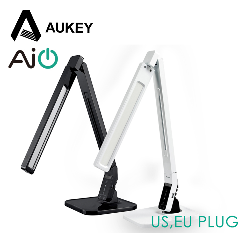 Aukey Dimmable Eye Care Led Desk Table Lamp Usb Charging