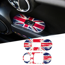 2Pcs Car Side Door Window Lifter Switch Control Panel Covers Stickers Decal For Mini Cooper JCW F56 F55 Car Styling Accessories недорого