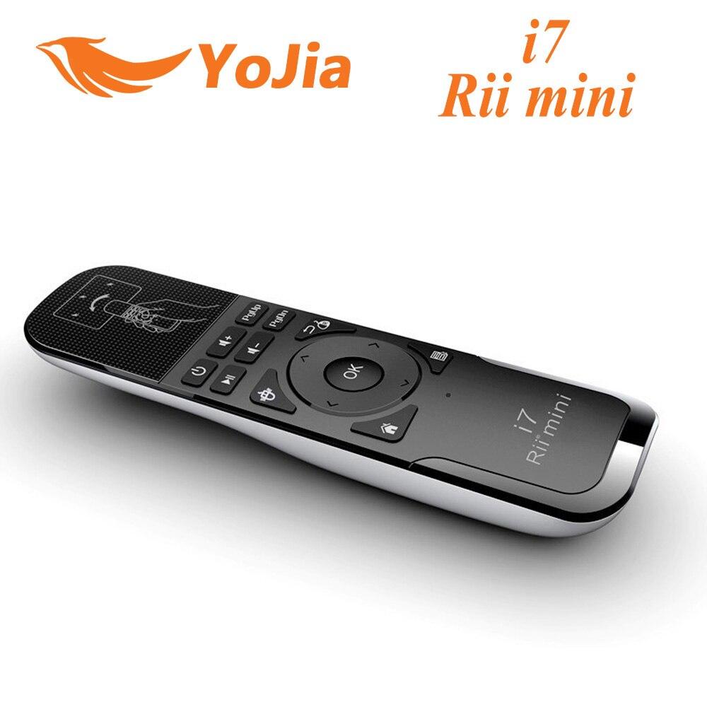 Originale Rii Mini i7 Air Mouse Remote Control 2.4G Wireless mini Gaming Fly per Android TV Box X360 PS3 Intelligente PC