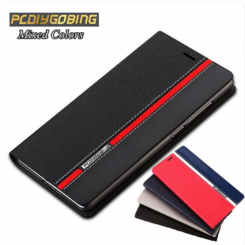 Luxury wallet style Phone cover Mixed colors top leather case For Elephone P9000 P8000 P7000 M2 case with card slot holder