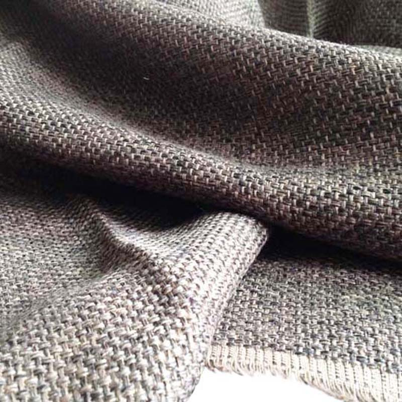 1 yard 91 145cm brown jute look fabric for sofa furniture geotextile linen cloth decorative. Black Bedroom Furniture Sets. Home Design Ideas