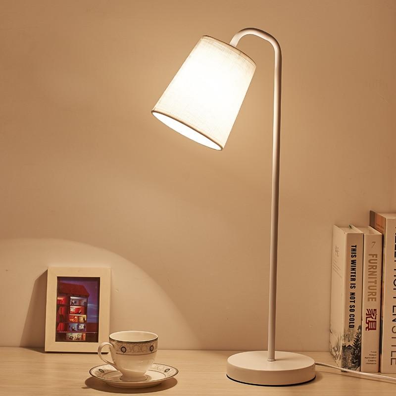 Original Table Lamps Lights Leaf Metal Lamp Body Fabric Lampshade