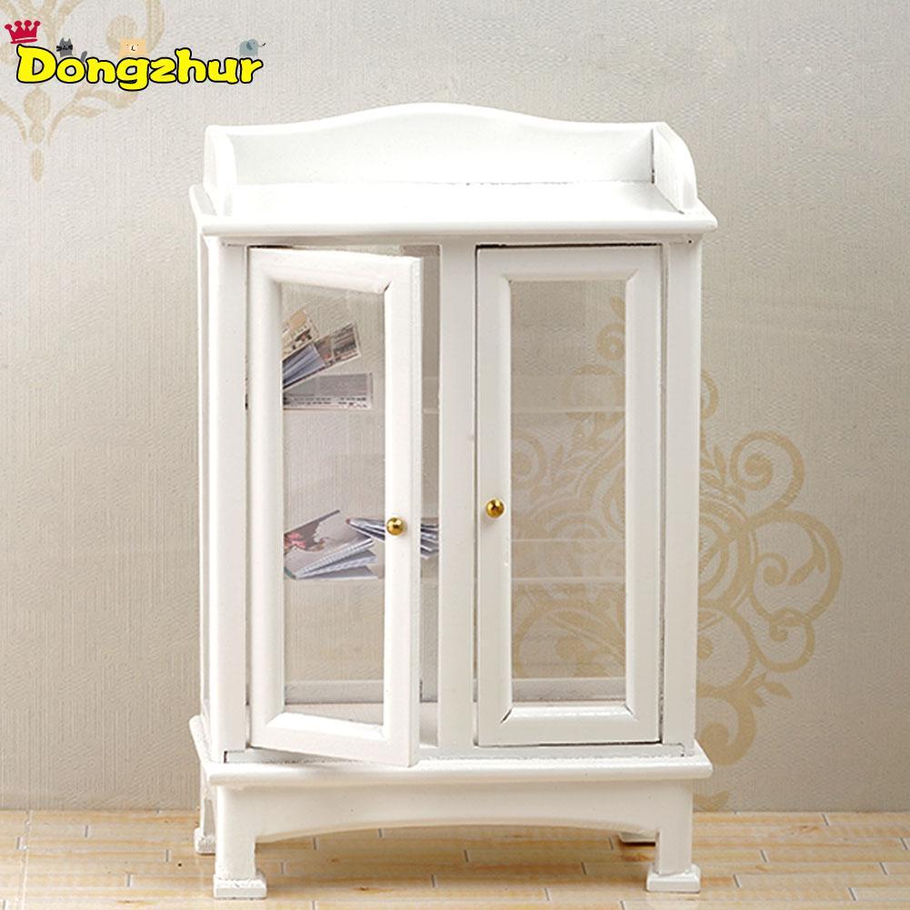 12o Muebles en miniatura de casa de muñecas armario natural con cajón 1