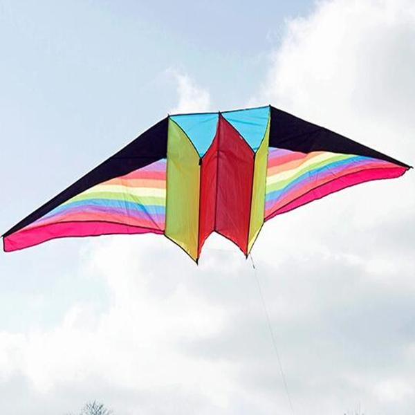 Envío de la alta calidad 2.4 m de gran línea de cometas volando al aire libre juguetes planeador 3d kite kitesurf weifang fábrica al por mayor del fondo