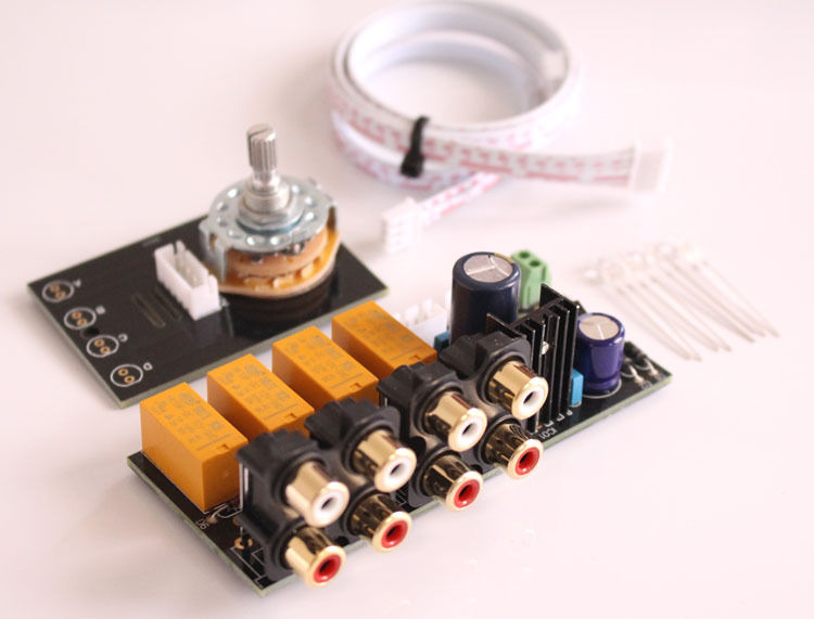 4 Way Audio Input Choose Board Stereo Audio Selector Switch With