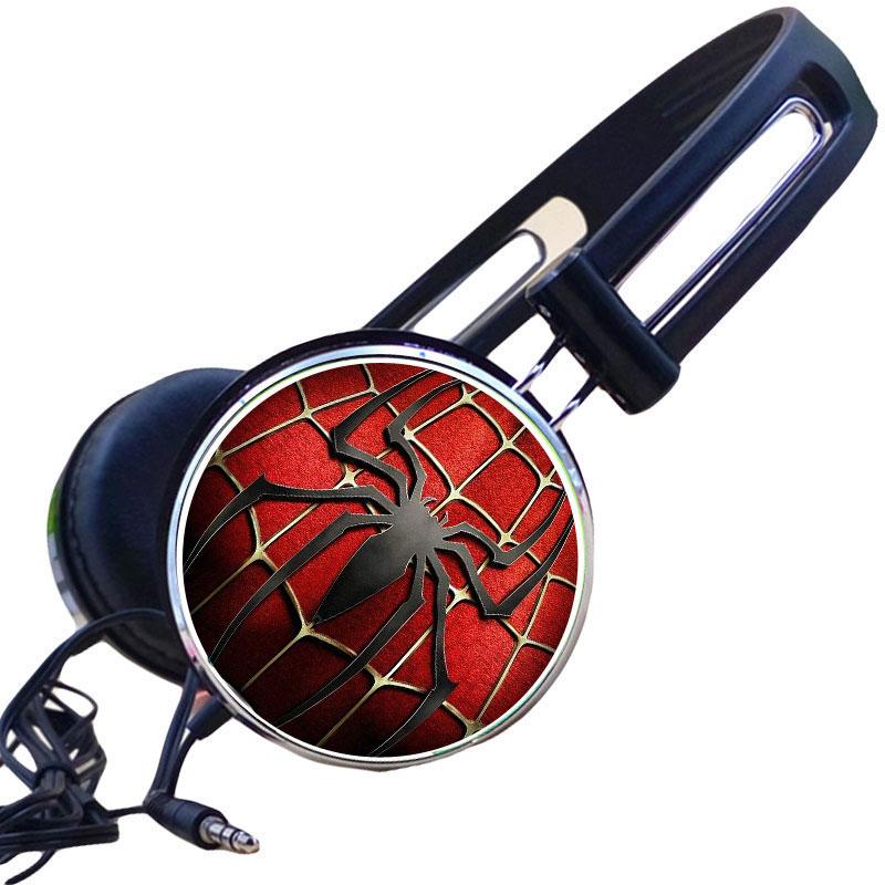 Wholesale Custom Spider Homecoming Wired Cosplay Comics Headphone Adjustable Sport Headphone Gaming Headset Stereo Headphone