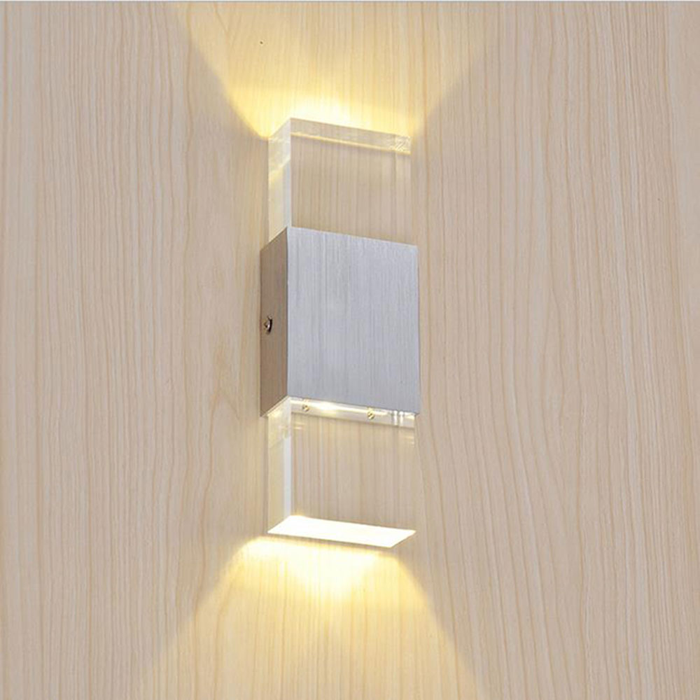 Buy 2017 new led wall light modern clear for Contemporary bathroom wall sconces