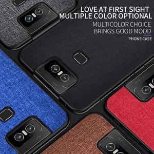Image 5 - Cloth Hard PC Case For Asus Zenfone 6 ZS630KL Case Soft TPU Bumper Back Cover For Asus Zenfone 6Z Simple Shokcproof Case Coques