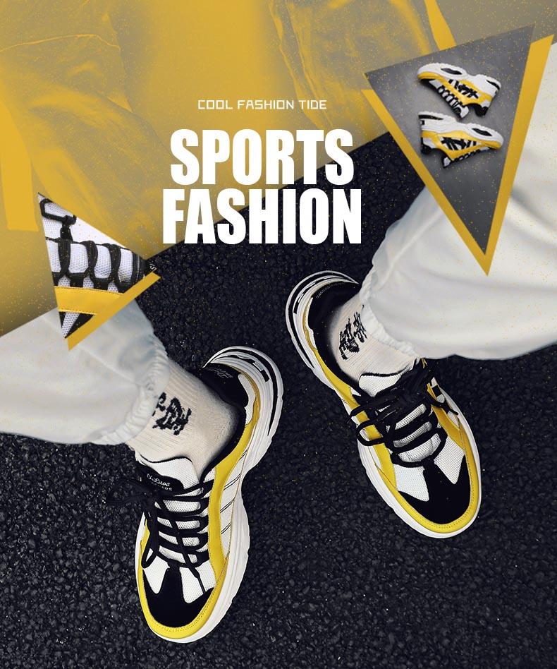 HTB11Qdha0zvK1RkSnfoq6zMwVXar BomKinta Stylish Designer Casual Shoes Men Yellow Sneakers Black White Walking Footwear Breathable Mesh Sneakers Men Shoes