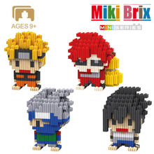 Mini Micro Diamond Block Naruto Japen Anime 3D Model Building Bricks Cartoon No Compatible Builded Blocks Toys For Children Gift(China)