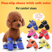 4pcs Waterproof Winter Pet Dog Shoes Anti-slip Snow Boots Paw Protector Warm Reflective For Suitable for all sizes of dogs