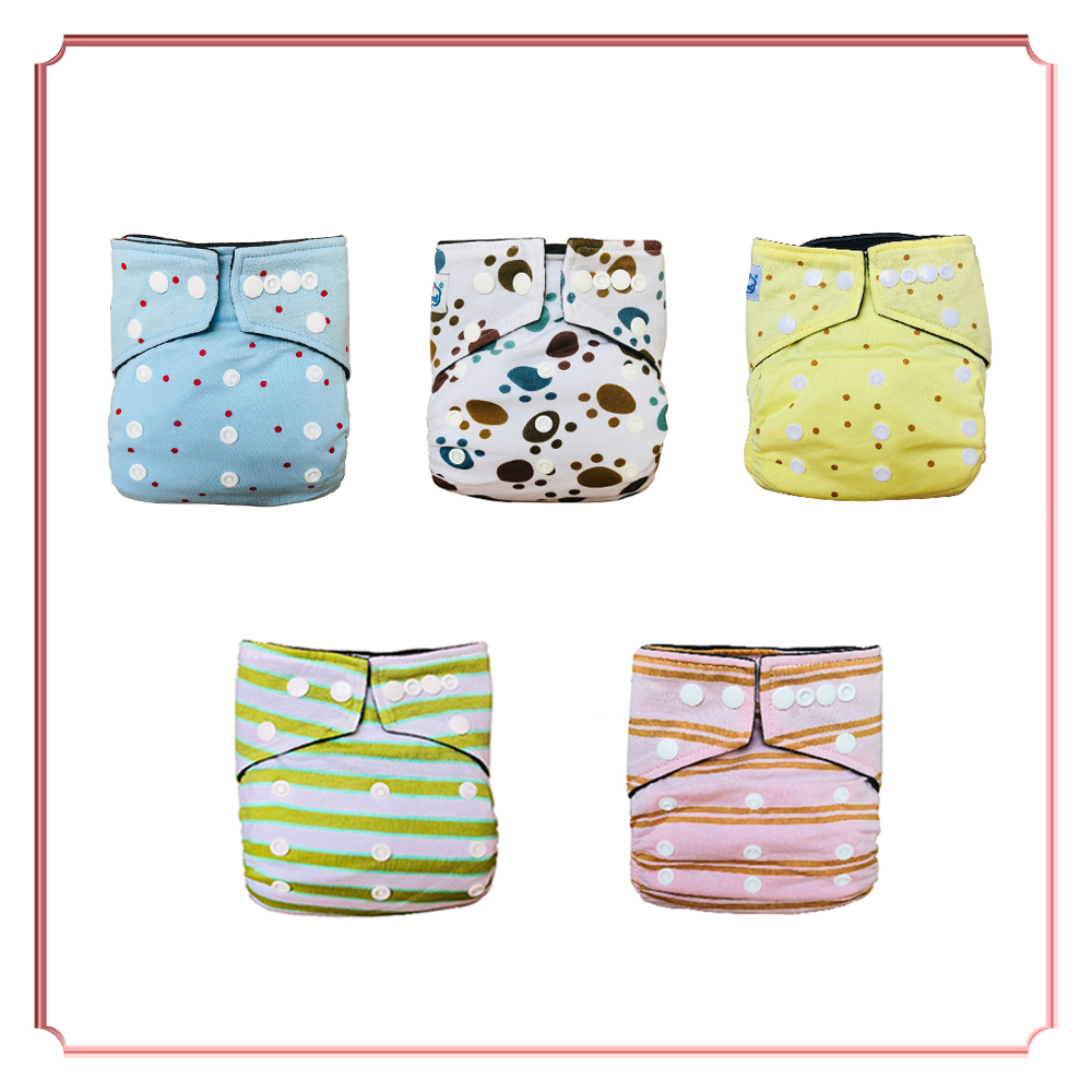 New Diaper 40pcs/Group Embroidery Bamboo Cotton Cloth Diapers Baby Bamboo Charcoal Newborn Nappy To Potty PUL Nappy Washable