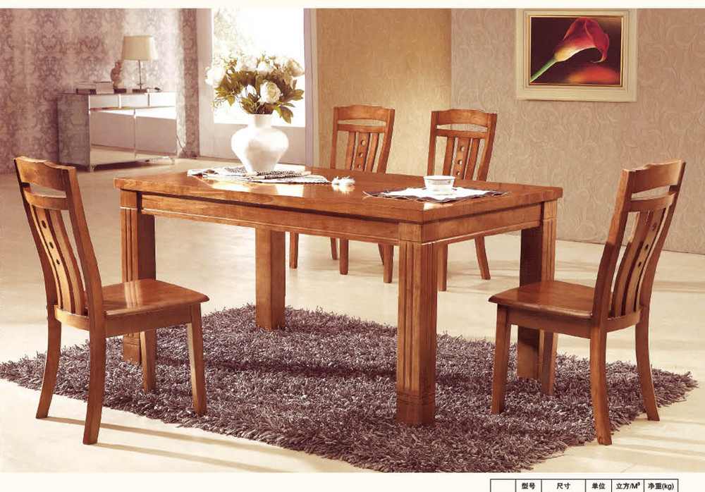 Factory direct oak dining tables and chairs with a turntable table ...