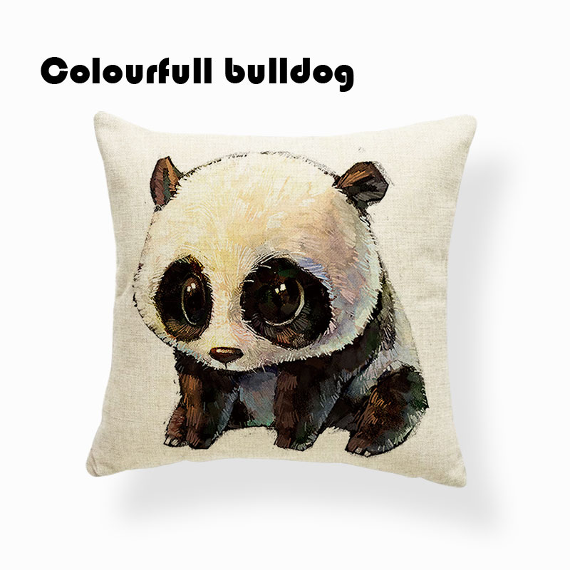 Designer Cartoon Animal Panda Toss Pillow Pop Art Pillow Scarf For Sofa Kids Birthday 18 Inch Cheap Office Decor Merry Christmas