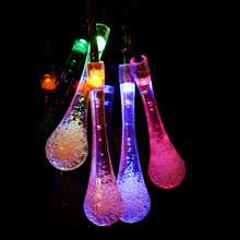 Water Drop Solar Powered String Lights LED