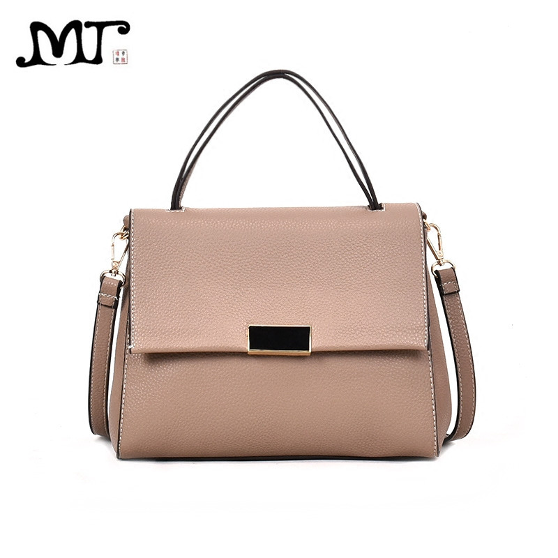 MJ Women Leather Handbag Fashion PU Top-Handle Bag Female Shoulder Crossbody Bag High Quality Leather Messenger Bags Luxury Tote fashion pu leather metal handle circular bag small round package shoulder bag girls crossbody tote messenger bags