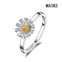 Promotional S925 Fashion Sun Flower Opening Ring Small Fresh Chrysanthemum Flower Ring Fashion Jewelry for Women's Fashion Gifts