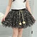 Американский Тюль Полный Звезды Летом Пачка Девушки Юбки Детская Одежда Дети Танец Одежда 2017 DBE