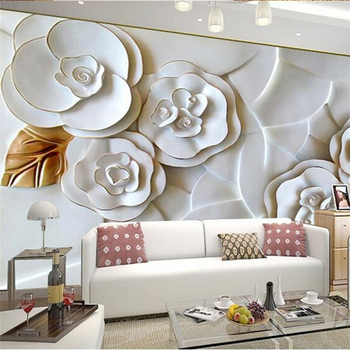 beibehang pastoral flowers wallpaper for walls 3d wall paper for wall 3 d classic embossed tv room bedroom wall paper home decor beibehang photo wallpaper 3D embossed wall paper for living room TV background white roses 3d wallpaper for walls flooring paper