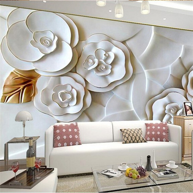 Beibehang Photo Wallpaper 3D Embossed Wall Paper For