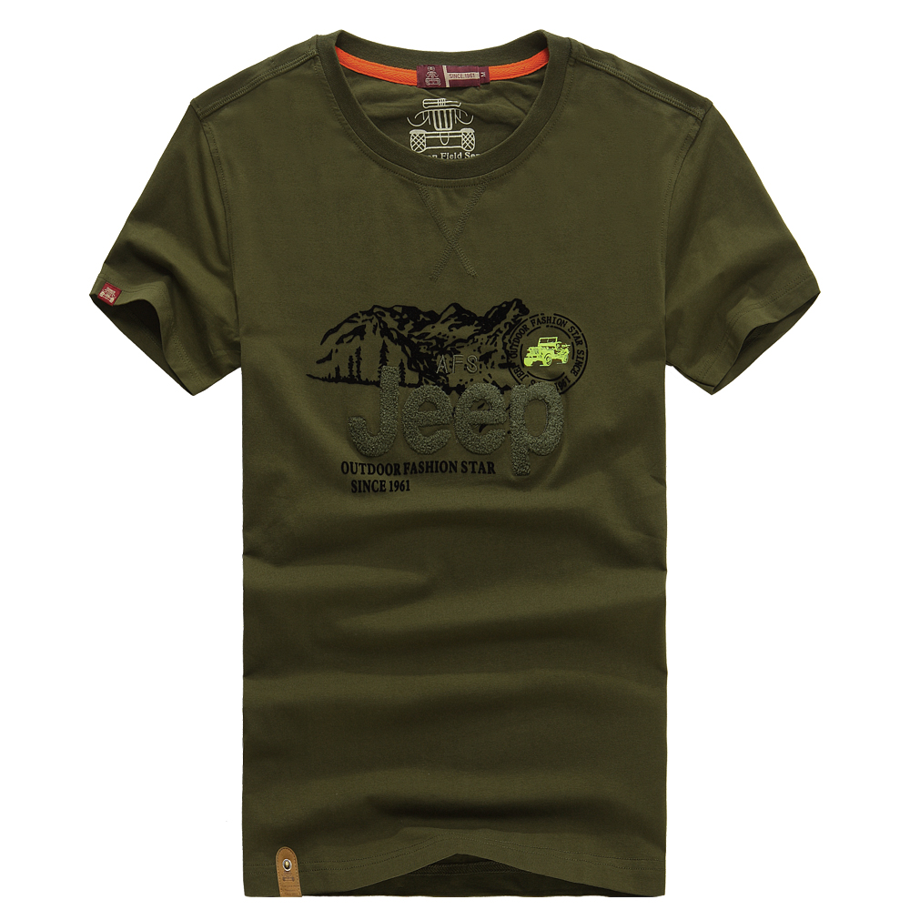 Free Shipping Afs Jeep T Shirt Men O Neck Military Style